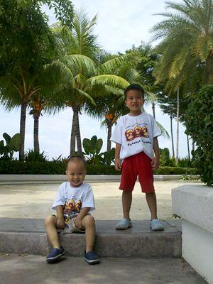 Boys at Straits Quay