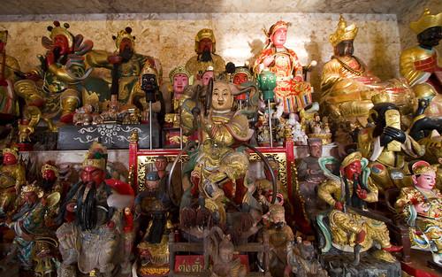 Inside Tha Reua Chinese Shrine, Phuket