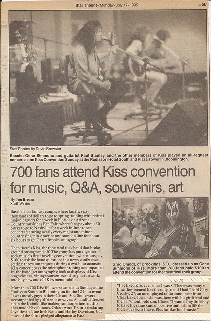 07-17-95 Minneapolis Star Tribune (Kiss Convention)01