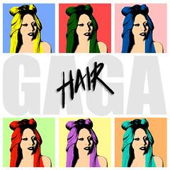 Lady Gaga - Hair (KingOfConeyIsland) Tags: lady hair way this born fan promo album made cover single gaga 2011
