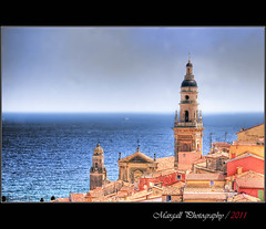 Menton - France - HDR (Margall photography) Tags: sea costa seascape france photography mare cityscape marco cote francia hdr azur menton azzurra galletto margall