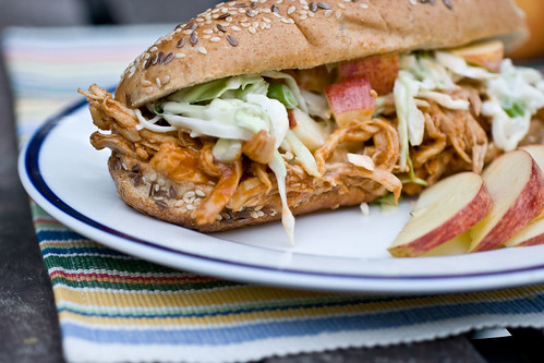 BBQ Chicken Apple Sandwiches
