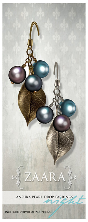 {Zaara} Ansuka pearl earrings *night*