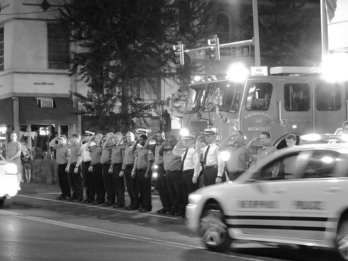 July 7 - Firefighters at the Front Street Station