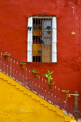 Yellow Stairs (IRainyDays) Tags: red window yellow stairs mexico guanajuato