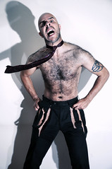 Rage Hard (miserablespice) Tags: hairy man male men work pants ripped tie sew anger clothes angry damage trousers tear damaged wrath fyff