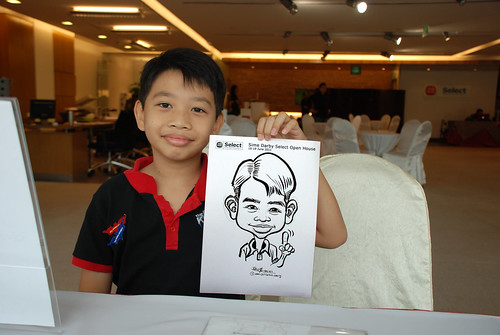Caricature live sketching for Sime Darby Select Open House Day 1 - 1