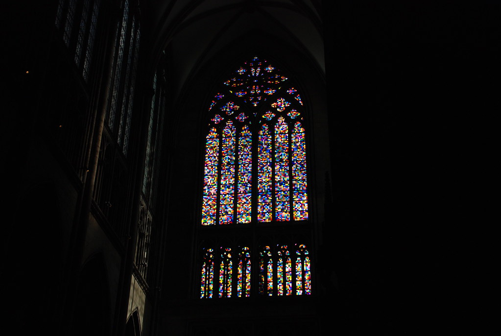 the controversial window from Gerhard Richter at Cologne (Koln) Cathedral