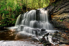 """Rock River Falls""  Rock River Wilderness Area - Near Chatham , Michigan (Michigan Nut) Tags: longexposure camping trees summer usa nature pool creek forest river geotagged photography waterfall sand sandstone stream michigan lagoon algae upperpeninsula manfrotto bedrock uppermichigan algercounty johnmccormick hikingmichigan michiganwaterfalls nikond700 rockriverfalls michigannutphotography nikon1635mmf4gedafsvrwideanglezoomlens rockriverwilderness"