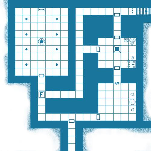 Old School 'Blue' D&D Maps