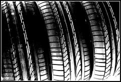 Tyre Tread (BGDL) Tags: bw nikon tread manualfocus picnik tyres d80 ourdailychallenge