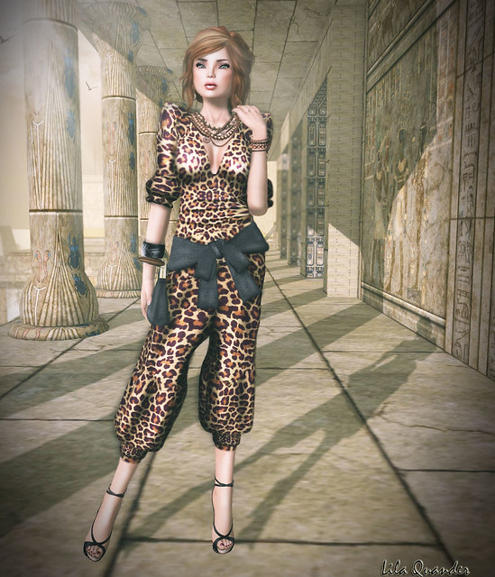 Fashionably Late - Orion - Body Suit-Leopard