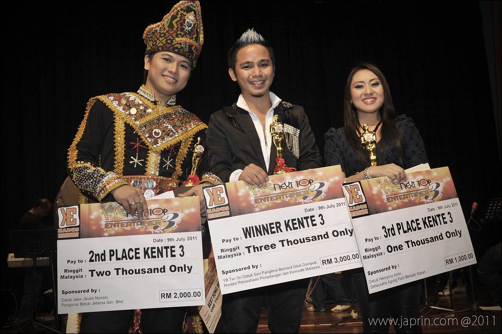 The Winner with 1st Runner Uo & 2nd Runner Up