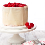 Buttermilk Cake with Raspberry Swiss Meringue Buttercream