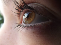 (louiseimogen) Tags: iris brown macro reflection eye girl clouds hazel teenager mascara pupil teenage
