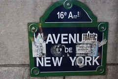 Avenue de New York Sign, Paris (ChrisGoldNY) Tags: city travel urban signs paris france french graffiti europa europe european forsale stickers eu viajes posters vacations bookcovers albumcovers gridskipper jaunted avenuedenewyork 16earr chrisgoldny chrisgoldberg chrisgold chrisgoldphotos