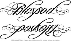 """Blessed"" & ""God's Gift"" Ambigram"