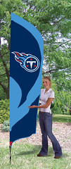 Tennessee Titans Tall Feather Flag