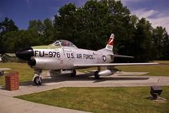 McChord F-86D (cordeiroj57) Tags: usairforce aviationmuseum sabrejet northamericanaviation f86d mcchordafb droptanks jblm sabredog vintagejetplane jetinterceptor 1950sjetfighter