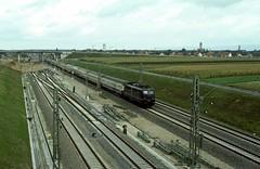 110 156  Neulussheim  1986 (w. + h. brutzer) Tags: analog train germany deutschland nikon 110 eisenbahn railway zug trains db locomotive lokomotive e10 elok eisenbahnen eloks neulussheim webru