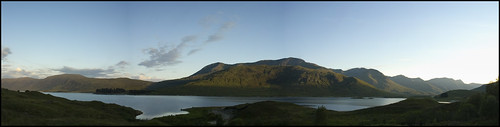 Loch Cluanie at Sunset