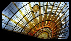 Shine Boldly (livinginwny) Tags: blue orange sun newyork beauty yellow buffalo shine cityhall stainedglass government rays brilliant leadership representation 13thfloor brilliance citycouncilchambers buffalove livinginwny