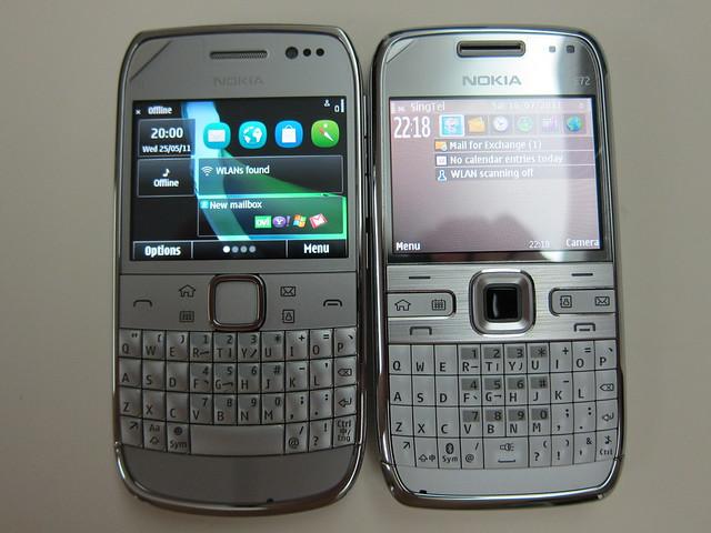 Nokia E6 vs Nokia E72