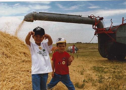 James & Buba with old thrasher '96