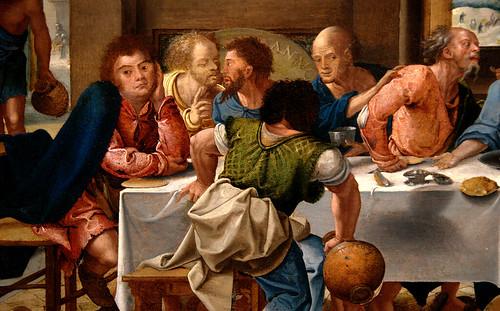 Luik, Wallonie, Curtius museum, Pieter Coeke van Aalst, last supper, detail
