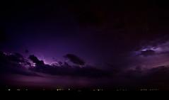 Waiting for the winds of change (Spectral Convergence) Tags: blue sky storm rain clouds lights texas purple horizon rush lightning stormrollingin massivestorm lightsonthehorizon musicallychallenged
