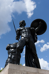 AFS-110348 (Alex Segre) Tags: city uk travel england sculpture london english sunshine statue bronze greek europe european britain capital central cities statues sunny bluesky nobody british mythology sculptures achilles myth myths mythical alexsegre