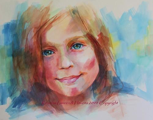 Как рисовать портрет акварелью по