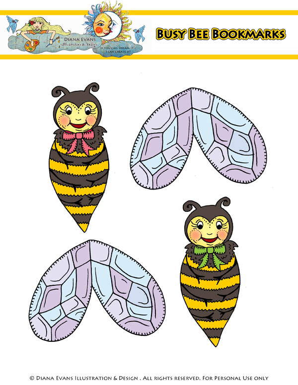busy bee bookmarks - blog