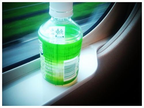 新幹線にて。