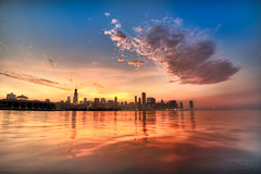 Chicago skyline during a foggy evening - Paul Saini Photo (Paulo Saini Photography) Tags: blue sunset orange chicago skyline purple loop searstower sheddaquarium museumcampus johnhancocktower chicagoist lakemichiganshoreline jht chicagoatdusk nikonusa skylinesunset nikonphoto nikond700 nikkor1424mm willistower colorfulskyline paulsaini monroeharbot adlerpalnetarium chicagolakemichiganshore chicagowideskyline nikon14424mm paulsainiphoto