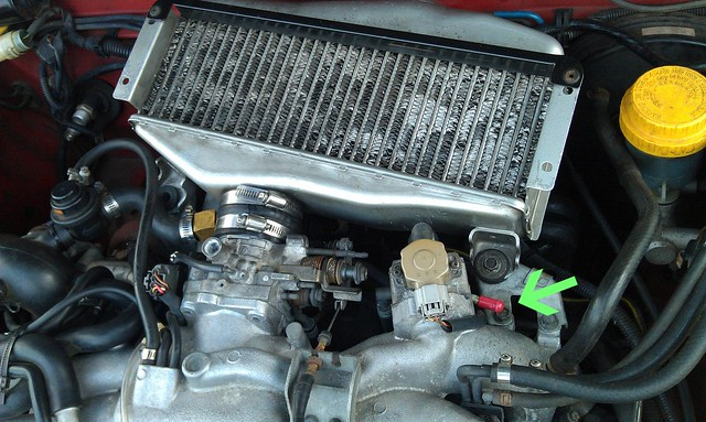 EJ20G Throttle body IAC coolant bypass mod