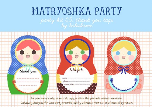 Matryoshka Madness : Thank You Tags by Babalisme The Blog