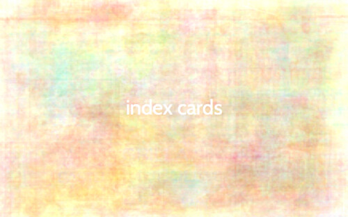The color of... collaged index cards