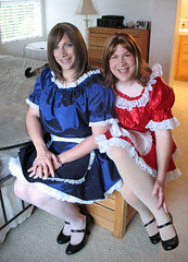French Maids (melissa2xs) Tags: french tgirl fishnets maid crossdress petticoats