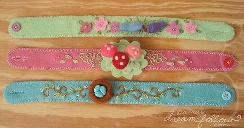 new needle felted headbands