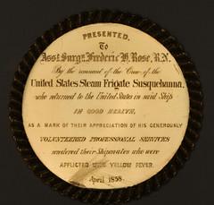 Frank Rose Yellow Fever medal rev