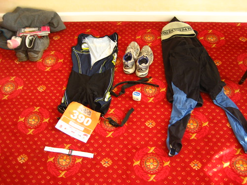 Race gear prepared the night before