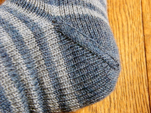 Stripey Sock - Afterthought Heel 2