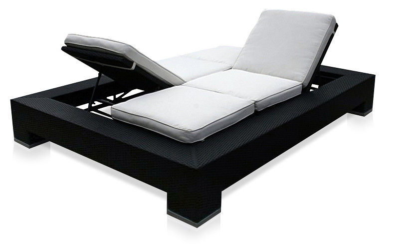 Lounge outdoor furniture outdoor furniture american for Backless double ended chaise longue