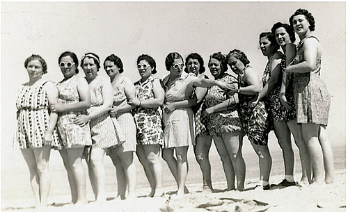 1930s Plus Women on Beach