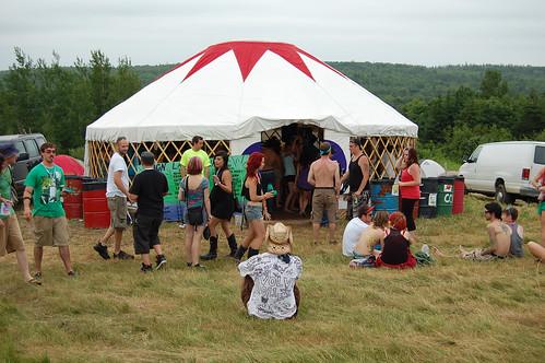 BCN Lazer Yurt - Evolve Festival 2011