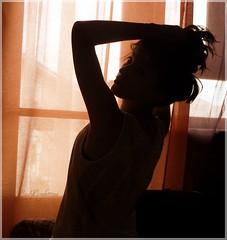 If Not Now, When? (MuddySoul) Tags: she life light shadow portrait music woman art window colors girl contrast self donna lyrics darkness autoportrait ombra young lei finestra sguardo ritratto nero luce vita feelings autoscatto ragazza emozioni tende oscurit