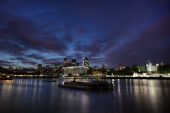City Dusk (TheFella) Tags: city uk longexposure greatbritain england sky urban slr london tower water thames night clouds digital photoshop canon buildings reflections river dark landscape eos boat photo high lowlight europe cityscape darkness dynamic unitedkingdom capital thecity nighttime photograph processing slowshutter gb 5d dslr range riverthames gherkin hdr highdynamicrange toweroflondon tower42 thegherkin natwest natwesttower markii postprocessing photomatix herontower 5dmarkii