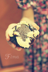 """cupcake ? (Fim  Senior 2012 !) Tags: cup girl cake chocolate   colorphotoaward"