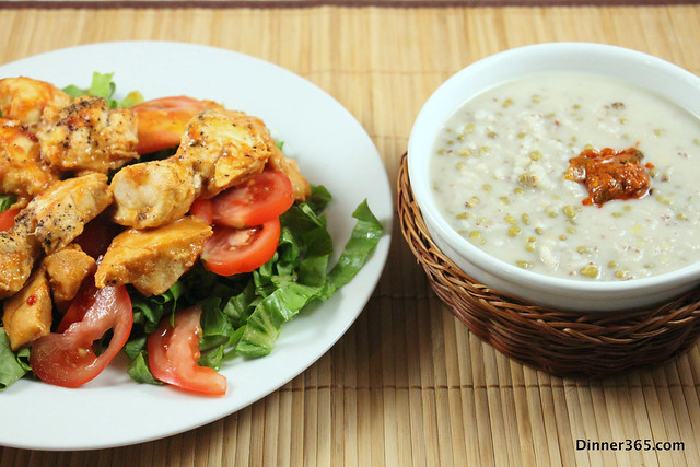 Day 209 - Chicken Salad and Rice Mung Bean Soup